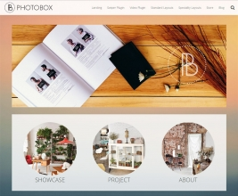 Photobox Theme customizable area