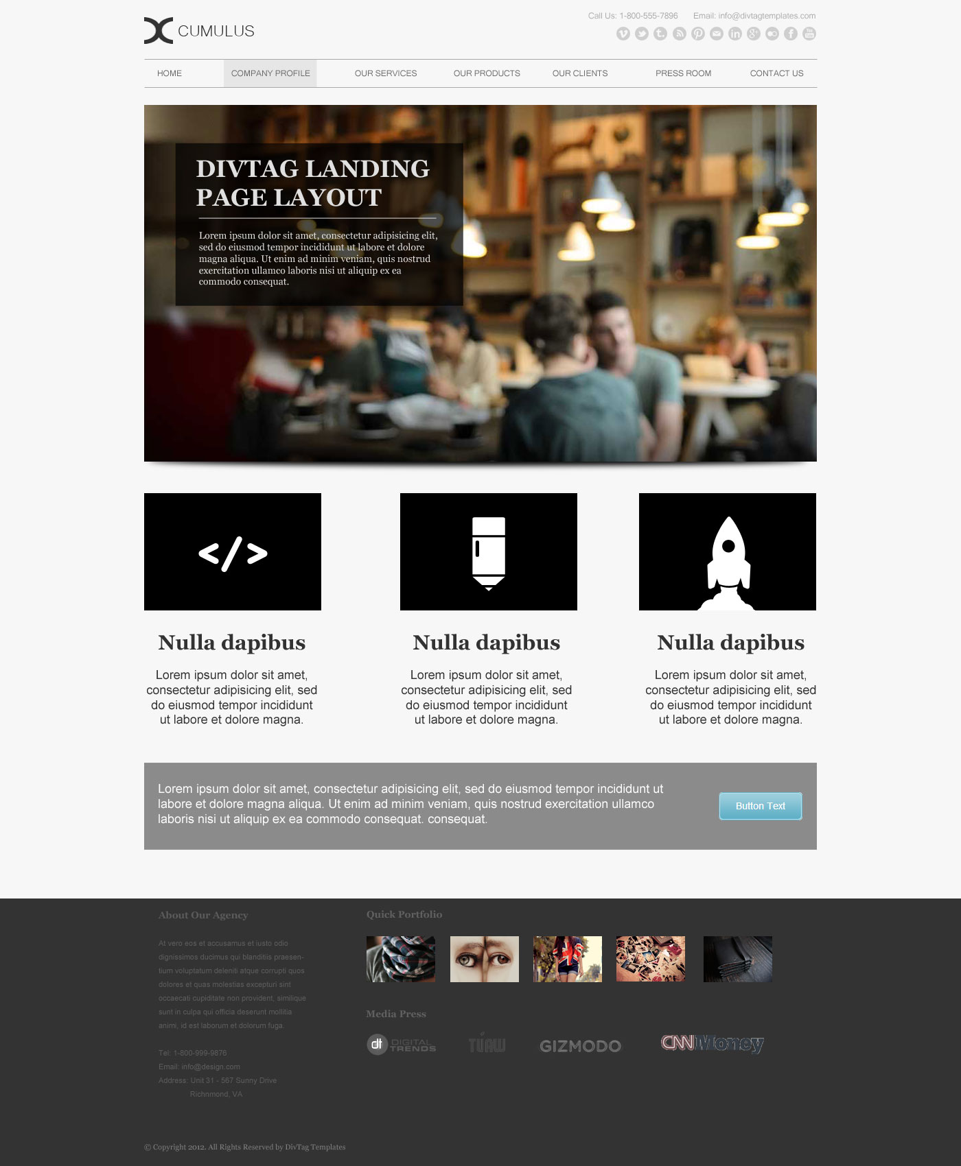 Weebly Templates & Weebly Themes - Cumulus Theme