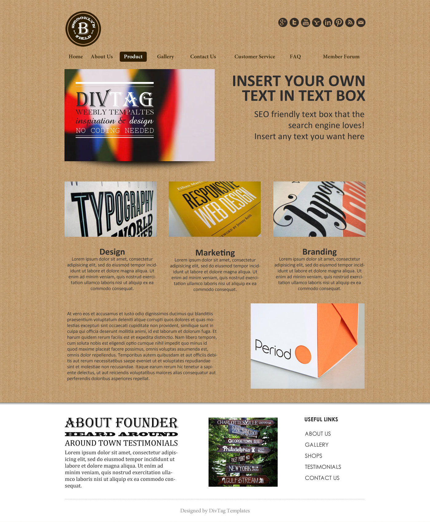 Weebly Templates & Weebly Themes - Brooklyn Field