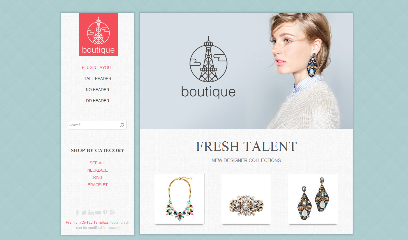 Weebly Templates & Weebly Themes - Boutique Theme