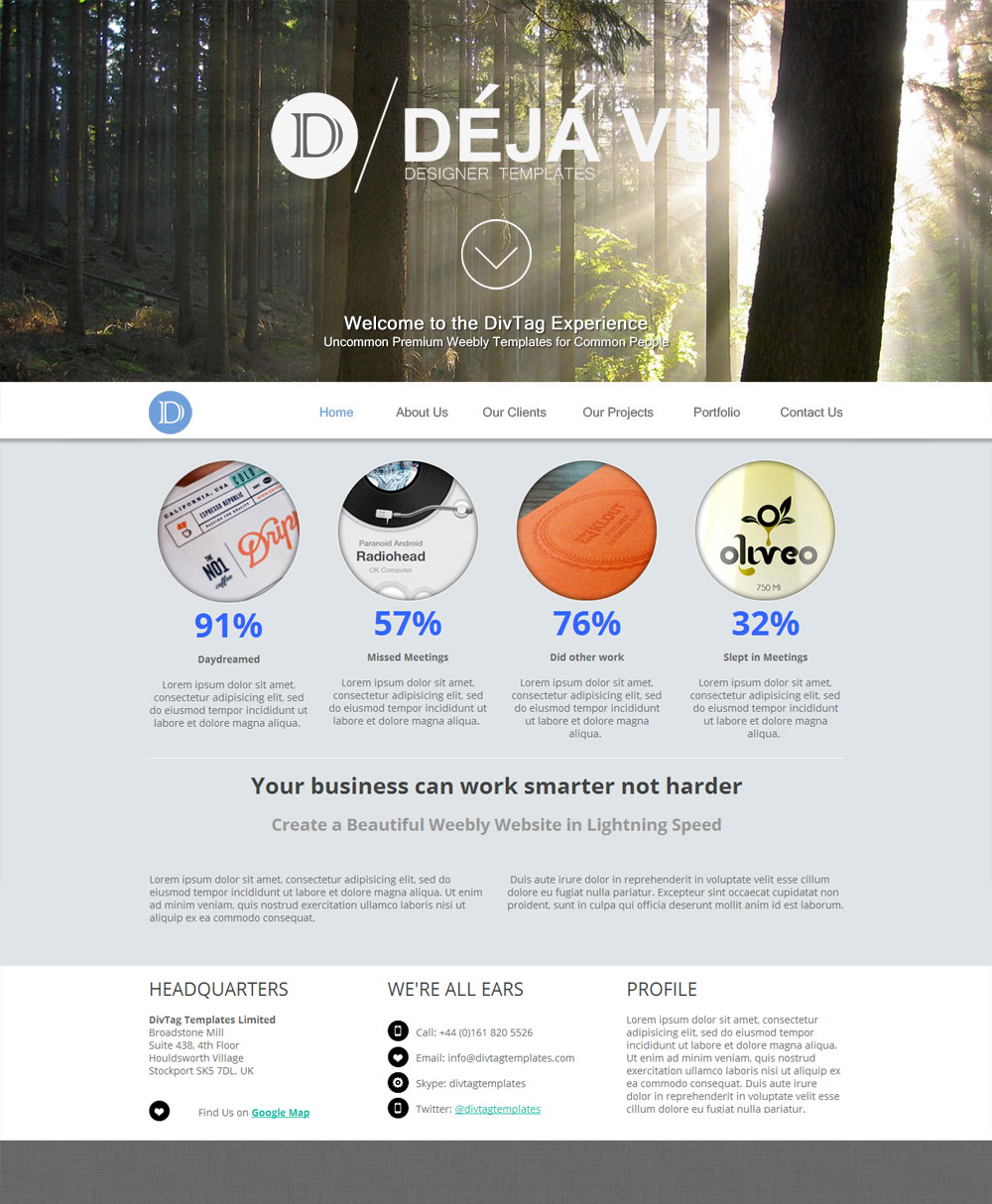 Free Weebly Themes And Templates | Weebly Templates Deja Vu Theme Premium Weebly Templates And