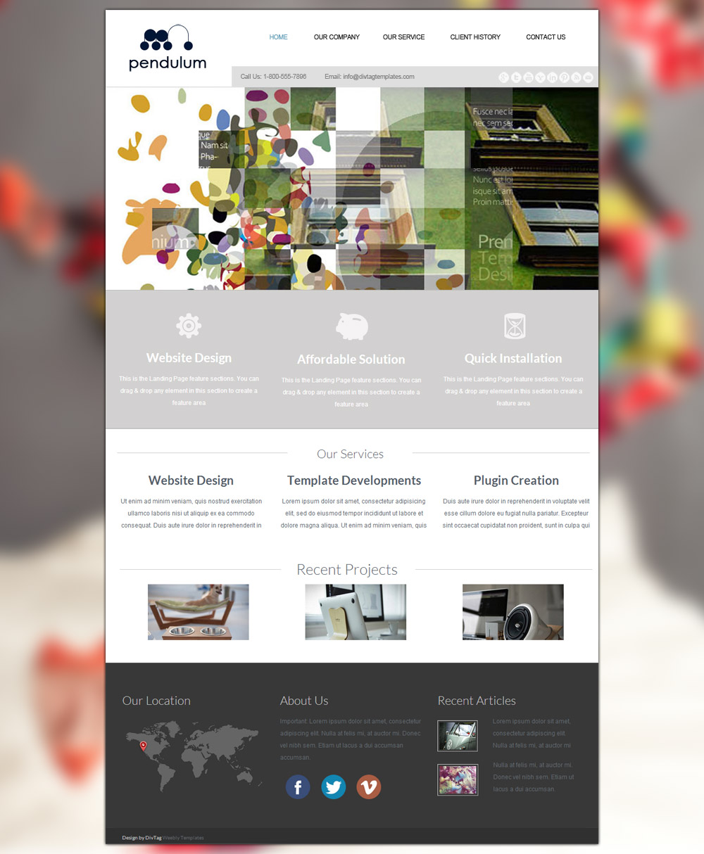 Weebly Templates & Weebly Themes - Pendulum