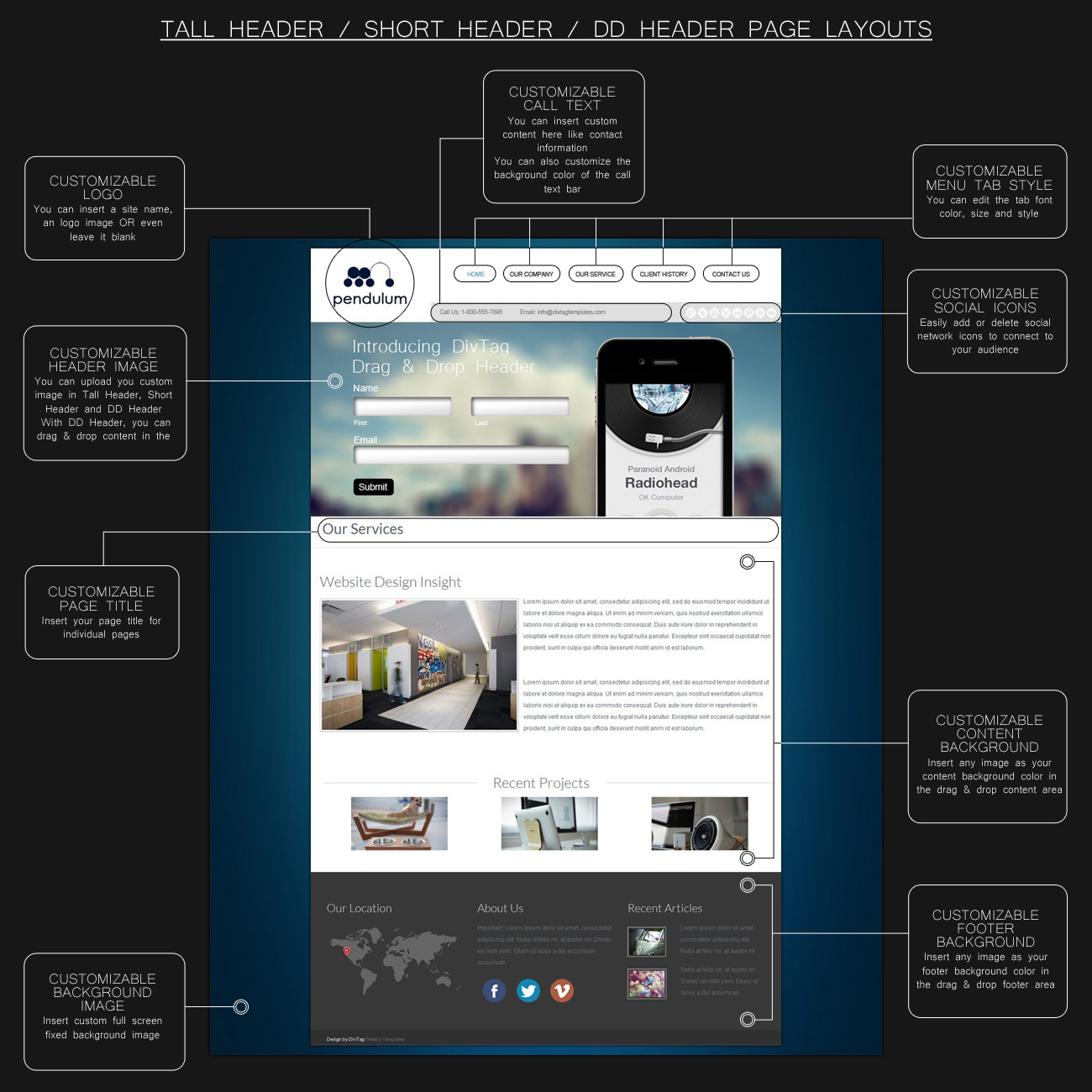 weebly templates weebly themes pendulum