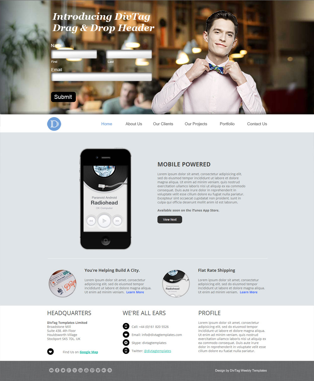 Deja Vu DD-Header | Premium Weebly Templates and Weebly Themes