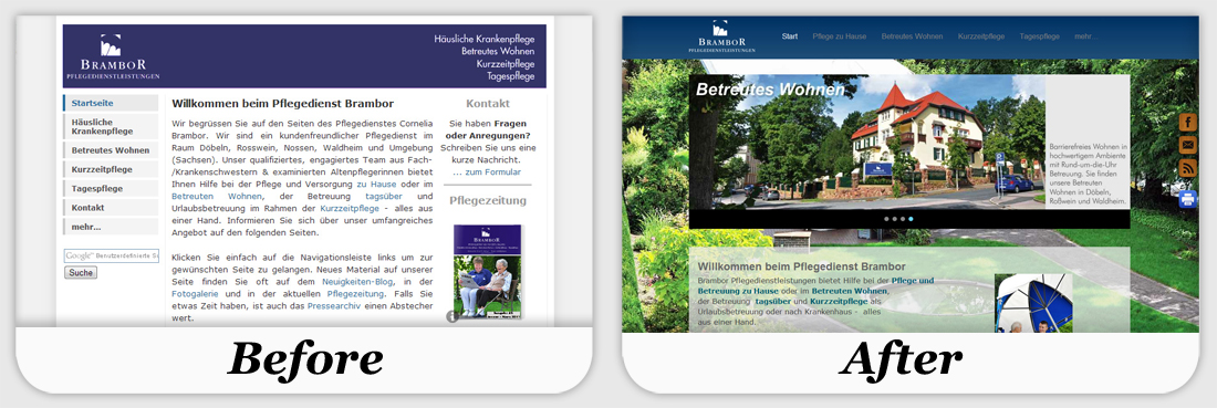 Before after weebly examples for Weebly site templates