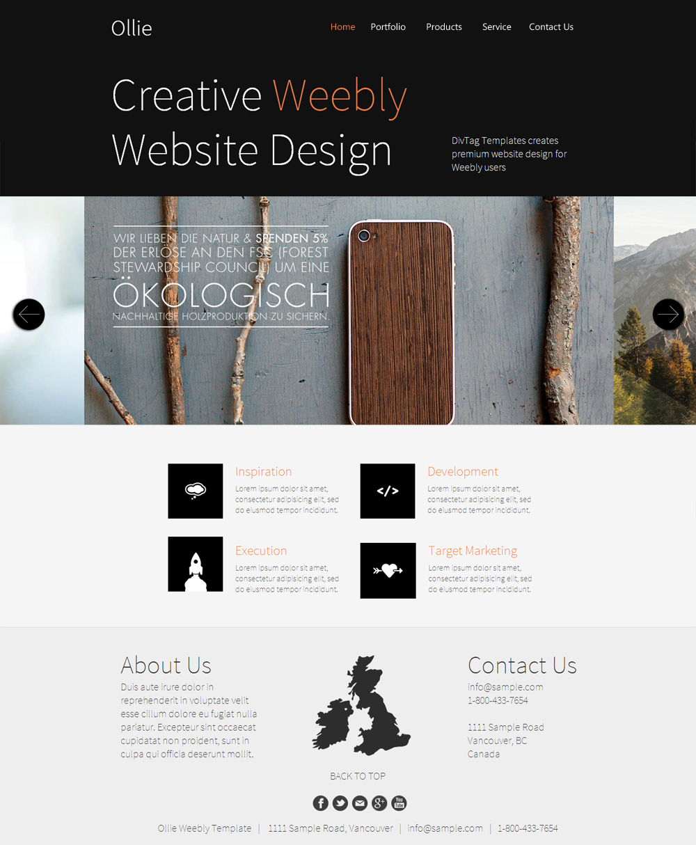 Ollie Plugin Layout Index Premium Weebly Templates And