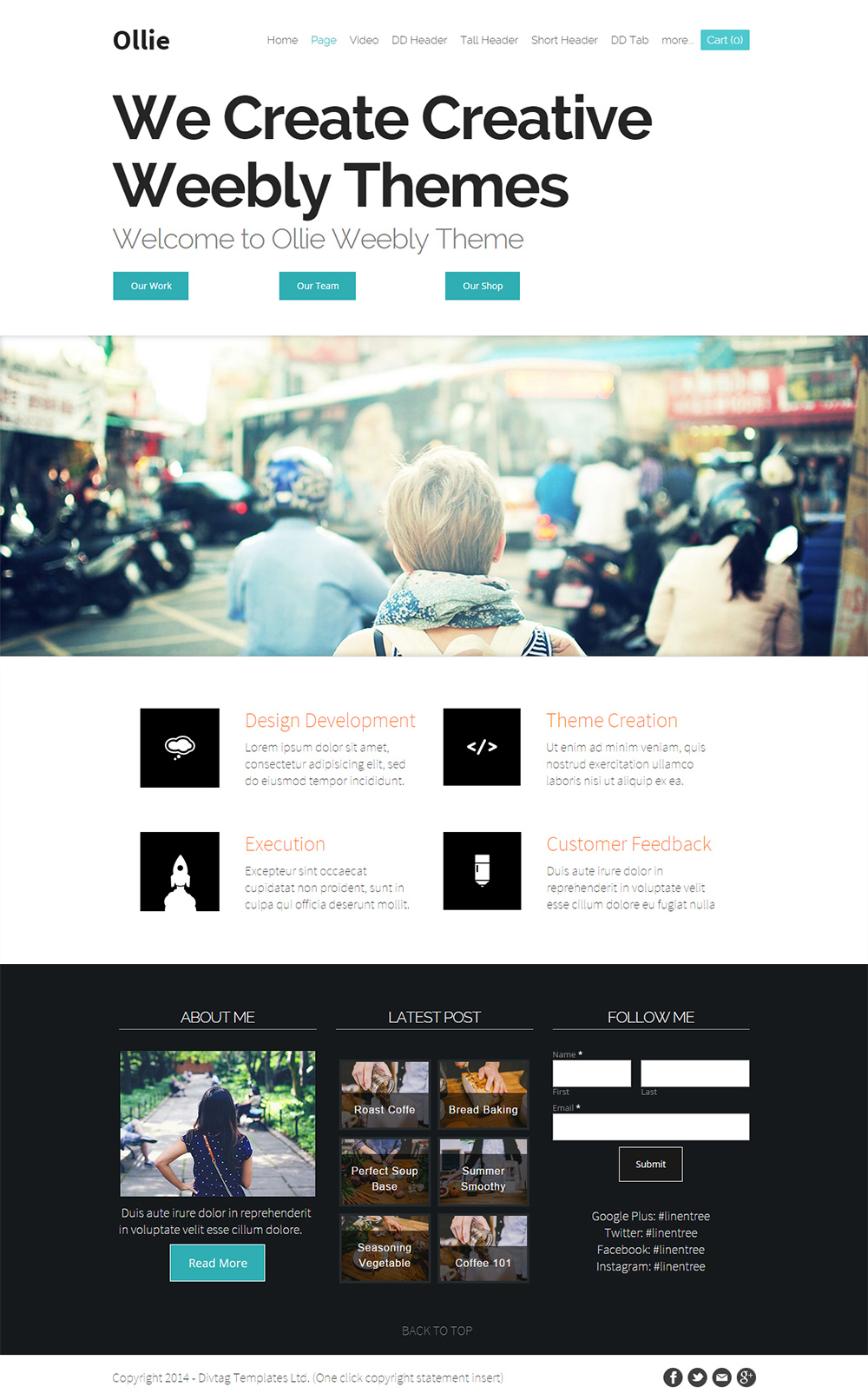 Premium Weebly Template - Ollie
