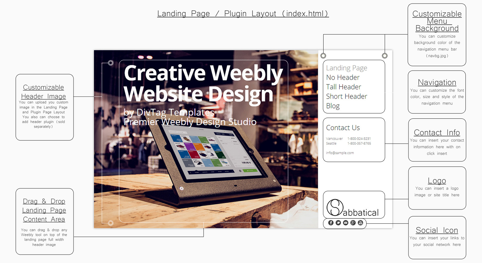 Weebly Templates & Weebly Themes - Sabbatical Theme