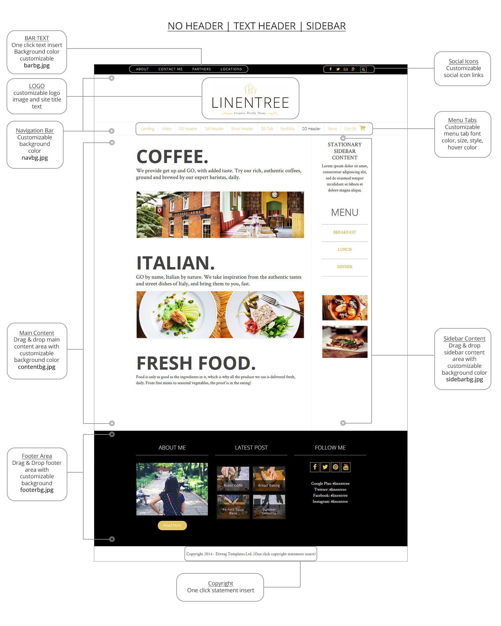 Weebly Templates & Weebly Themes - LinenTree Theme