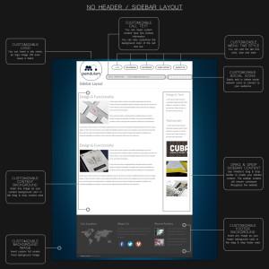 Sidebar Layout / No Header Layout