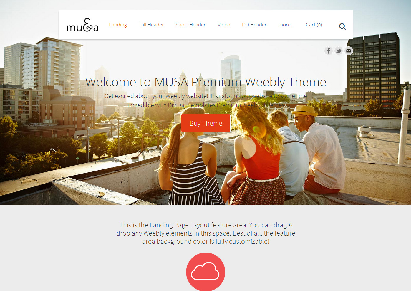Weebly Templates & Weebly Themes - MUSA Theme