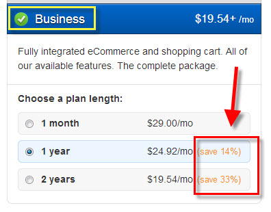 Weebly eCommerce - Business Discount Pricing 1
