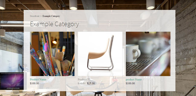 Weebly eCommerce -Category Page