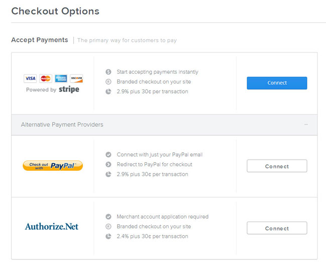 Weebly eCommerce - Payment Options