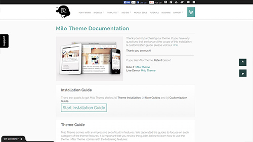 Milo Theme Documentation Live Walkthrough