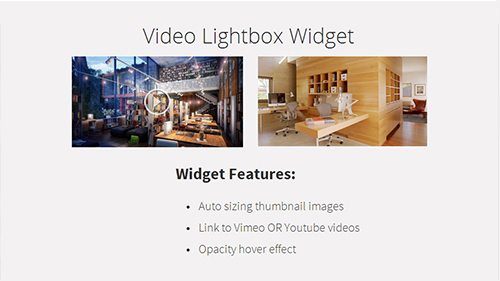 Video Lightbox Widget