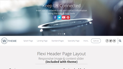 Flexi Header Page Layout