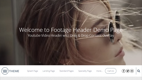 Footage Header Page Layout (W Theme 3.0+)
