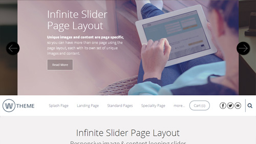 Infinite Header Page Layout