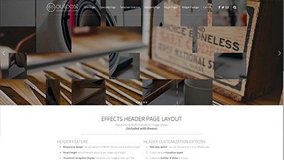 Effects Header Page Layout